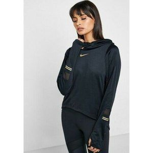 Nike Running Black Long Sleeeve Glam Logo Hoodie S